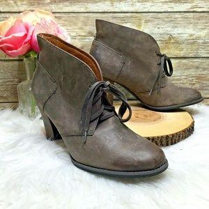 Clarks Indigo Heath Wren Brown Leather Ankle Boots